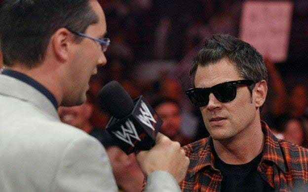 Johnny Knoxville of Jackass appears for WWE a year after the canceled SummerSlam match.