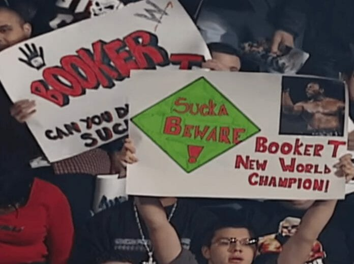 Booker T had a lot of fan support leading into the match at WrestleMania 19 against Triple H.