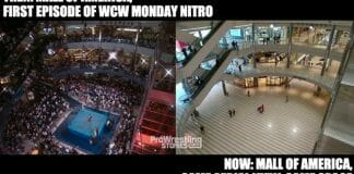 Mall of America: then (first ever WCW Monday Nitro) vs. now.