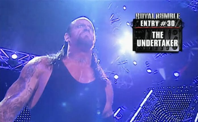 The Undertaker has drawn the number 30 spot at three different Royal Rumbles — 1997, 2003 and 2007.