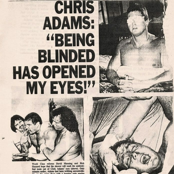 An angle so convincing, fans later believed Chris Adams was the main suspect in the murder of Gino Hernandez to the point of even being questioned by the authorities.