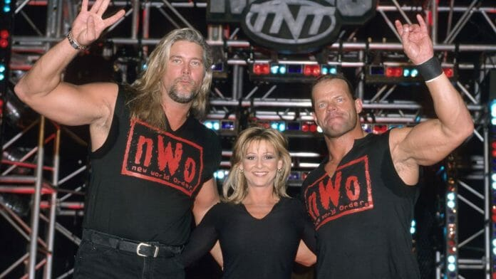 Miss Elizabeth in WCW joining the nWo Wolfpac.