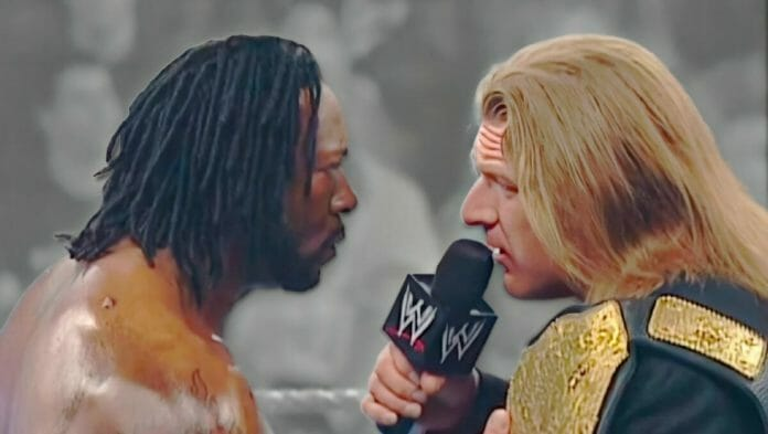 """Triple H cuts """"that"""" promo on Booker T."""