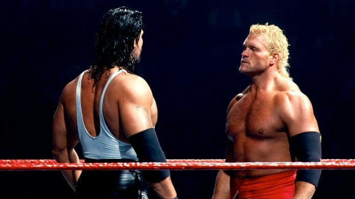 Diesel faces off against Sycho Sid at the inaugural In Your House pay-per-view, May 14, 1995.