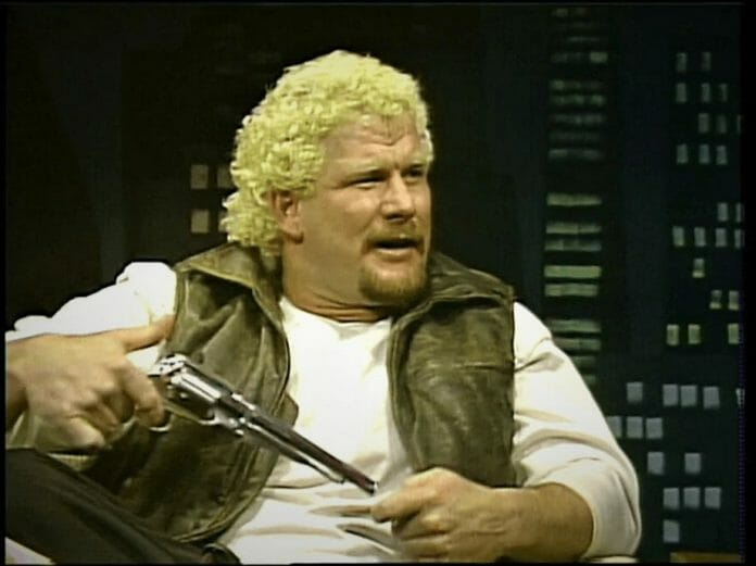 Even before becoming a bounty hunter, David Schultz was showing off his firearms in the WWF.