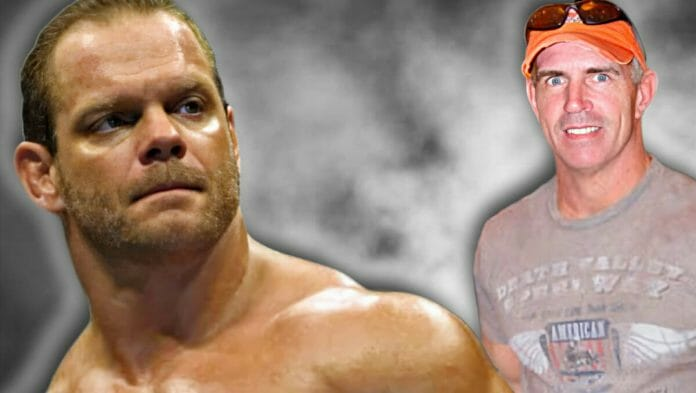 Long-time friends Chris Benoit and Bob Holly. As it turns out, Chris had invited Bob over to his home on the day the Benoit Family nightmare began.
