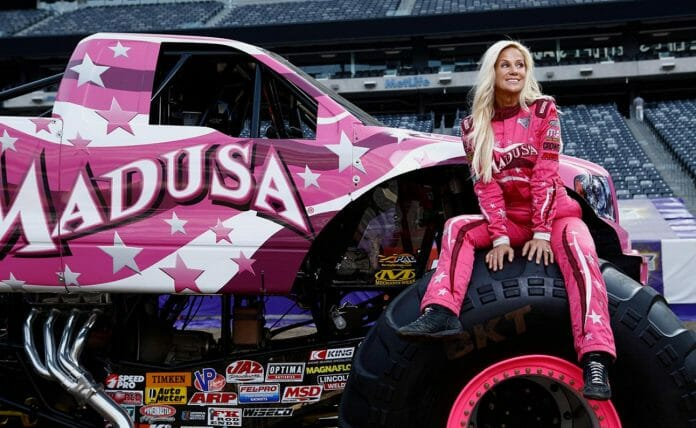 Not just a champion in professional wrestling, 'Madusa' Debra Miceli became the first-ever woman to win not one but two monster truck championships.