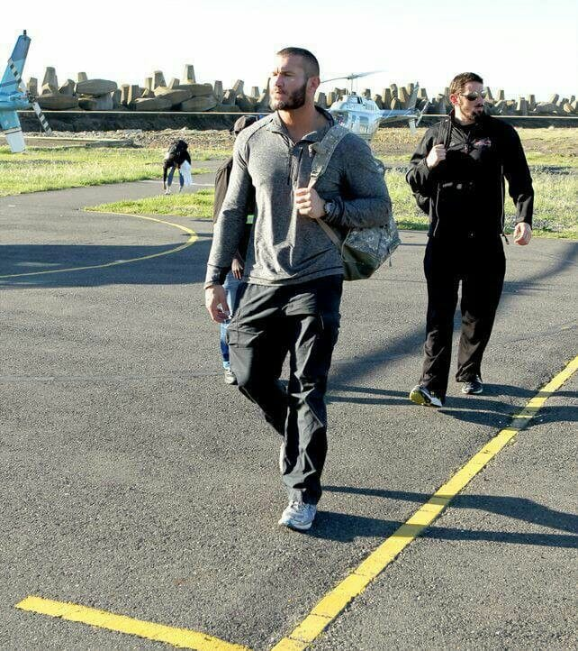 Randy Orton and Wade Barrett arrive in South Africa, 2013.