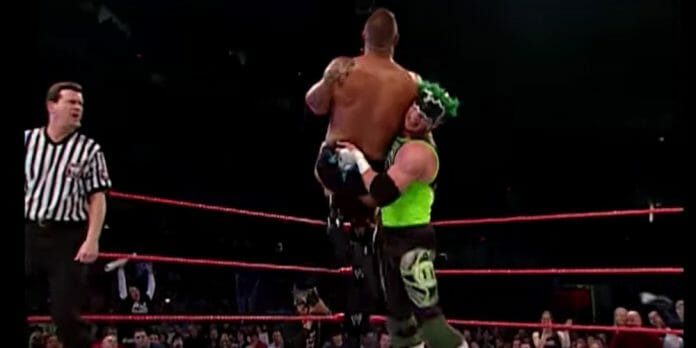 The Hurricane gives The Rock a taste of his own medicine on March 10, 2003's Monday Night Raw.