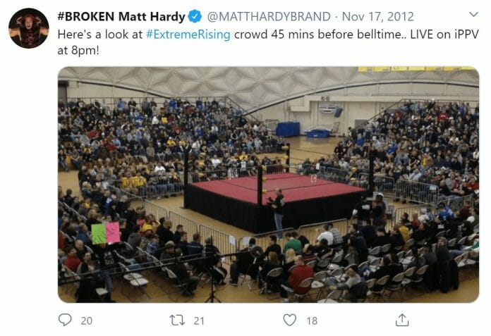 Matt Hardy shares a picture of the CCBC Golden Dome 45 minutes before belltime.