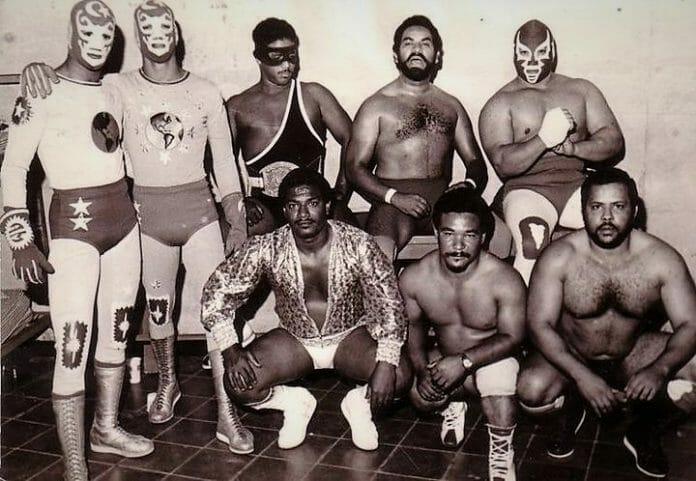 Left to right, top to bottom: Hermanos Astroman, Caballero Negro, Jack Veneno, Puño de Hierro, El Terrible Veneno, Dominican Kid, El Buitre