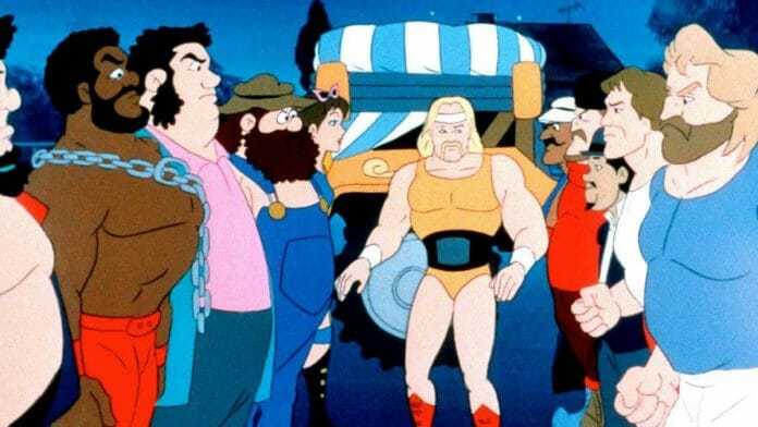 Hulk Hogans Rock 'n' Wrestling featured many WWE Superstars in animated form and their adventures outside the squared circle.