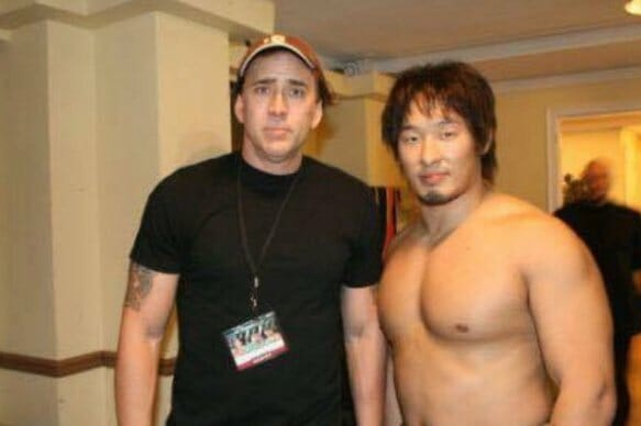 Nicholas Cage and Marufuji Naomachi at Ring of Honor's Glory By Honor VI show, November 3rd, 2007. Although Cage was considered for the part of Randy