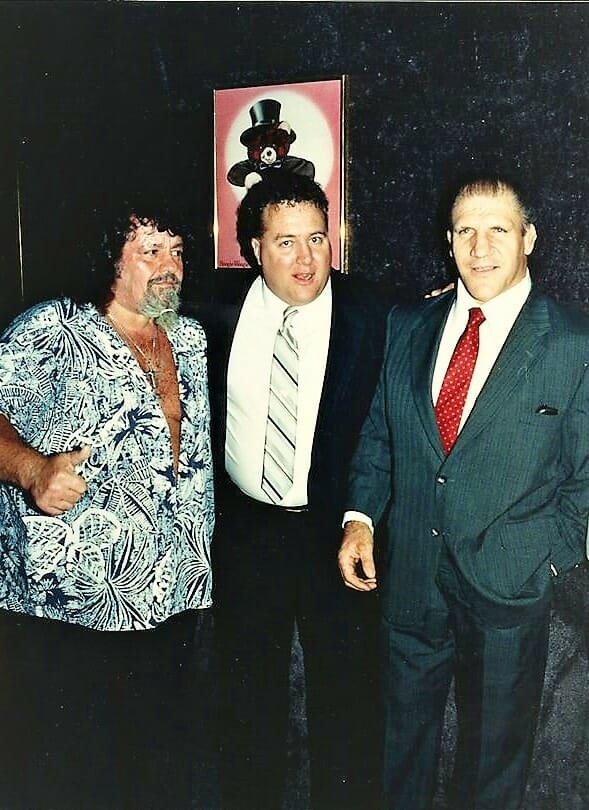 Davey O'Hannon worked with many of his childhood heroes, including Bruno Sammartino, on the right.