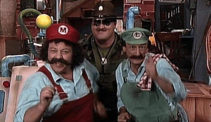 Mario and Luigi meet wrestling legend Sgt. Slaughter on The Super Mario Bros. Super Show!