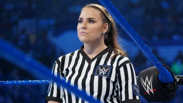 Jessika Carr is recognized as WWE's first full-time female referee.