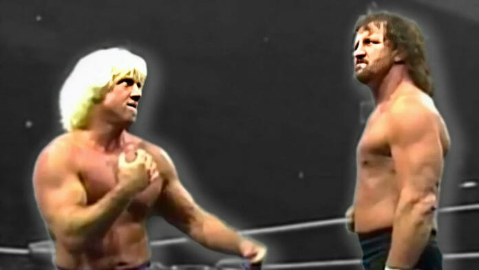 Ric Flair and Terry Funk in 1989, had the unenviable task to try to top the legendary Flair versus Steamboat trilogy of matches.