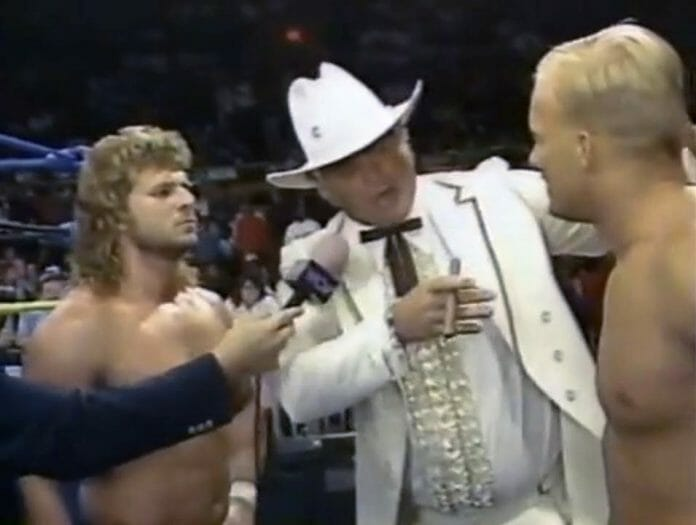 The Hollywood Blonds, Brian Pillman and Steve Austin, split up.