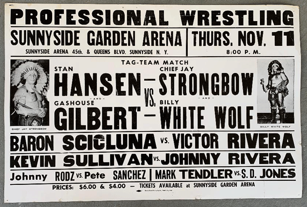 "A poster promoting an upcoming WWWF ""C Circuit"" show at Sunnyside Garden Arena."