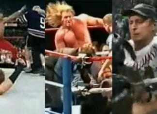 """Unfortunately, there are """"fans"""" who can't help themselves at the shows. They get caught up in a moment and take it upon themselves to jump the barricade and skirt around security to ambush a wrestler. As ridiculous as it may seem, this has happened numerous times over the years. Dive into the insanity of these people and how wrestlers took care of them for doing so."""