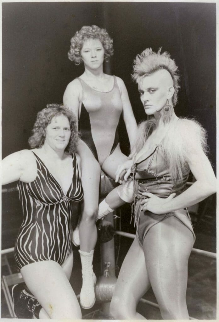Peggy Lee, a young Luna Vachon, and Lady Maxine in Florida. [Original photographer: David Audet]