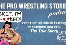 SummerSlam 1992 was assembled at outdoor Wembley Stadium just outside London, England. The 80,355 in attendance were buzzing throughout the evening, mostly in part to cheer on their hometown hero, The British Bulldog. He was set to take on his real-life brother-in-law Bret Hart for the Intercontinental Championship in the evening's main event. Both competitors were incredibly over with the fans at the time, but not all was what it seemed. In a match he would later consider the greatest of his career, Bret would have to carry Bulldog through the entire match as he forgot everything he was supposed to do. It was a result of many unfortunate choices made in the days leading up to their match…SummerSlam 1992 was assembled at outdoor Wembley Stadium just outside London, England. The 80,355 in attendance were buzzing throughout the evening, mostly in part to cheer on their hometown hero, The British Bulldog. He was set to take on his real-life brother-in-law Bret Hart for the Intercontinental Championship in the evening's main event. Both competitors were incredibly over with the fans at the time, but not all was what it seemed. In a match he would later consider the greatest of his career, Bret would have to carry Bulldog through the entire match as he forgot everything he was supposed to do. It was a result of many unfortunate choices made in the days leading up to their match…