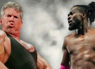 A bit of liquid courage: Kofi Kingston challenges Vince McMahon to a fight!