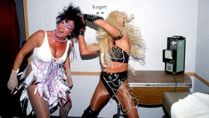 Luna Vachon considers Sherri Martel her favorite opponent. They had a brief but memorable feud in 1993, where they pulled all the stops to entertain the fans.