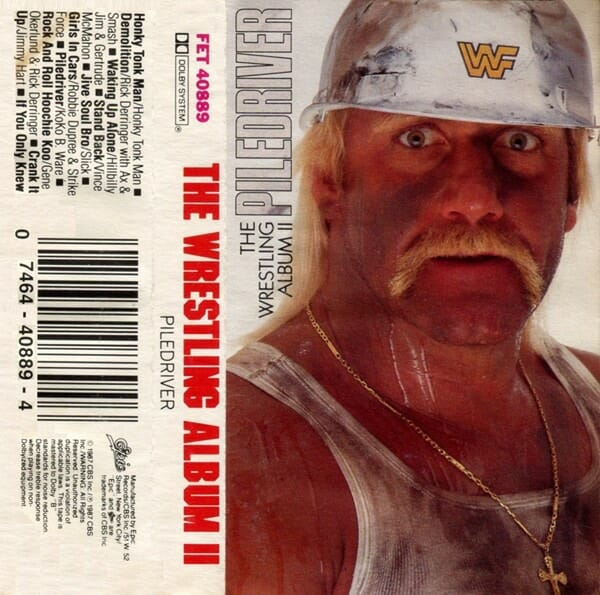 "Cassette for 1987's ""The Wrestling Album II: Piledriver."" Although JJ Maguire had created music for the WWF as far back as 1987, many fans and online sources miscredit his and Jimmy Hart's work with Jim Johnston's and vice versa."