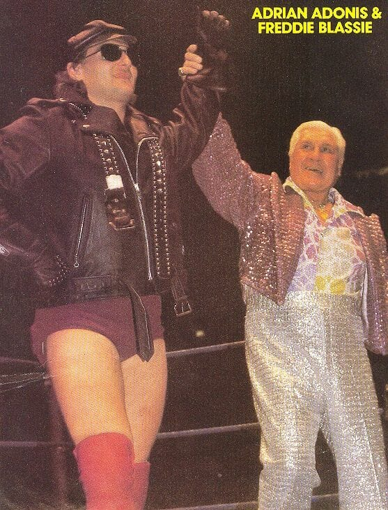 Adrian Adonis with the legendary Freddie Blassie.