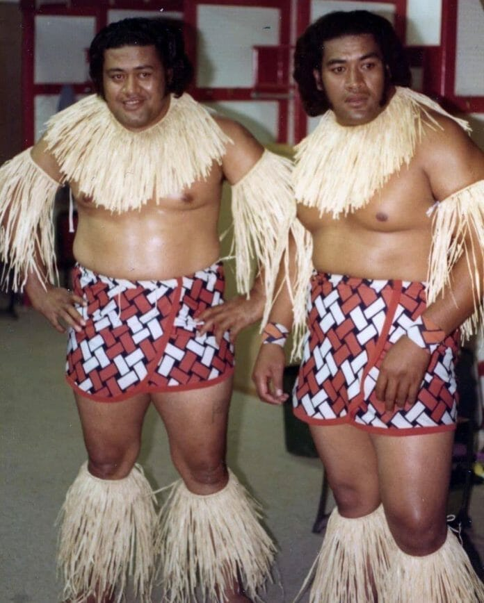 Afa and Sika of the Wild Samoans in their earlier days, then known as The Islanders.