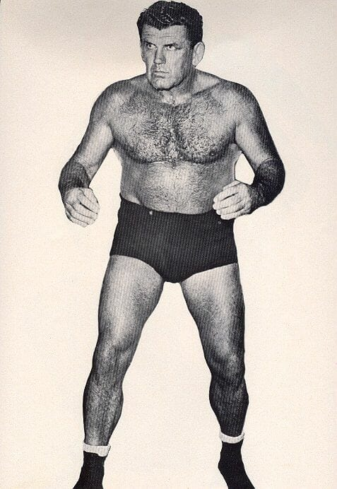 Legendary Kiwi wrestler, Fred Adkins. He would play an important role in the development of Adrian Adonis in the business.