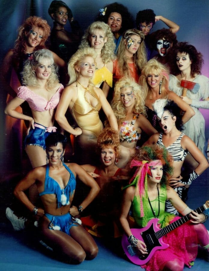 GLOW: Gorgeous Ladies of Wrestling in 1986.