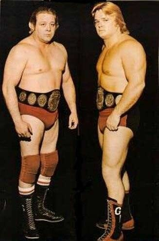 NWA Tag Team Champions, The Crippler Ray Stevens and Greg Valentine.