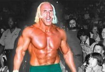 WWWF World Champion Superstar Billy Graham attracts looks of awe from envious fans.
