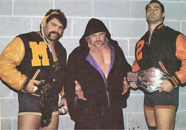 The Varsity Club: Rick Steiner, Kevin Sullivan, and Mike Rotunda.