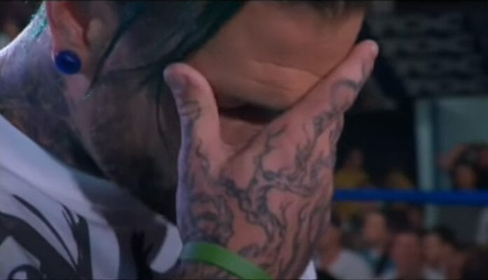Jeff Hardy was emotional during his return from his rock bottom moment.