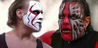 Sting and Jeff Hardy at the Victory Road pay-per-view in 2011.
