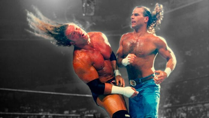 Shawn Michaels and Triple H do battle at SummerSlam 2002.