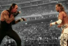The Undertaker and Shawn Michaels square off at Wrestlemania 25 in what many consider the greatest match of all time.