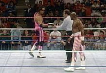 Virgil faces off against Bret Hart for the WWF Championship on a November 21st, 1992 episode of Superstars. [Photo: WWE Network]