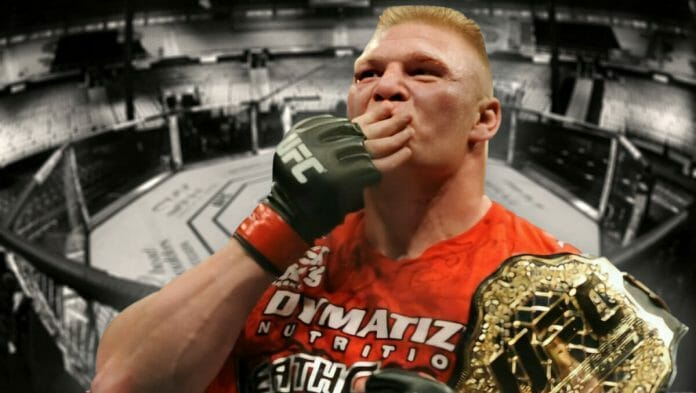 Brock Lesnar and his fight to become UFC champion.