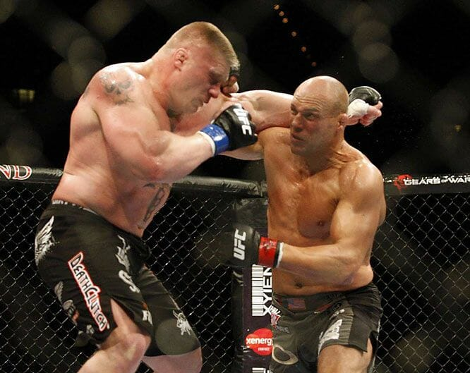 If Brock Lesnar were to become UFC champion, he'd have to get through the tough, veteran Randy Couture.