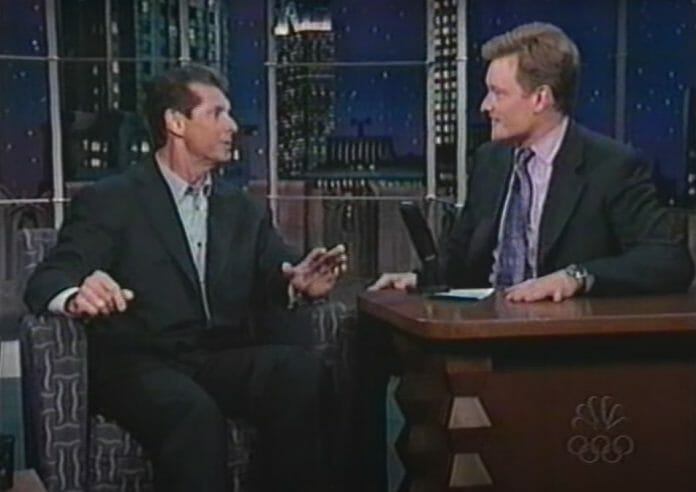 Vince McMahon on Late Night with Conan O'Brien in 1999.