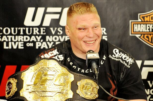 Brock Lesnar is elated after becoming the new UFC Heavyweight Champion.