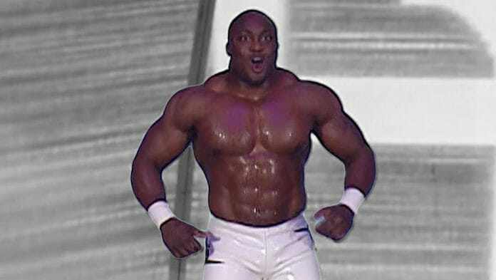 Bobby Lashley during his WWE debut on SmackDown, September 23rd, 2005.