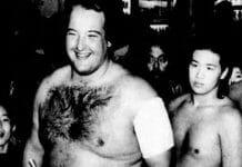 "Kototenta (a.k.a. John ""Earthquake"" Tenta) during his sumo wrestling days."