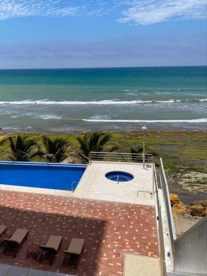 The ocean view from Lanny Poffo's balcony in his new home of Manta, Ecuador.