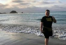Lanny Poffo strolling the local beach in his new hometown of Manta, Ecuador.