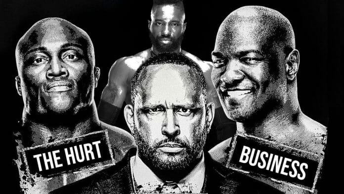 The Hurt Business, featuring Bobby Lashley, MVP, Cedric Alexander, and Shelton Benjamin.